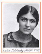 Kadya Molodowsky in 1919